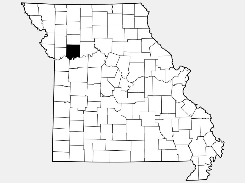 Ray County locator map