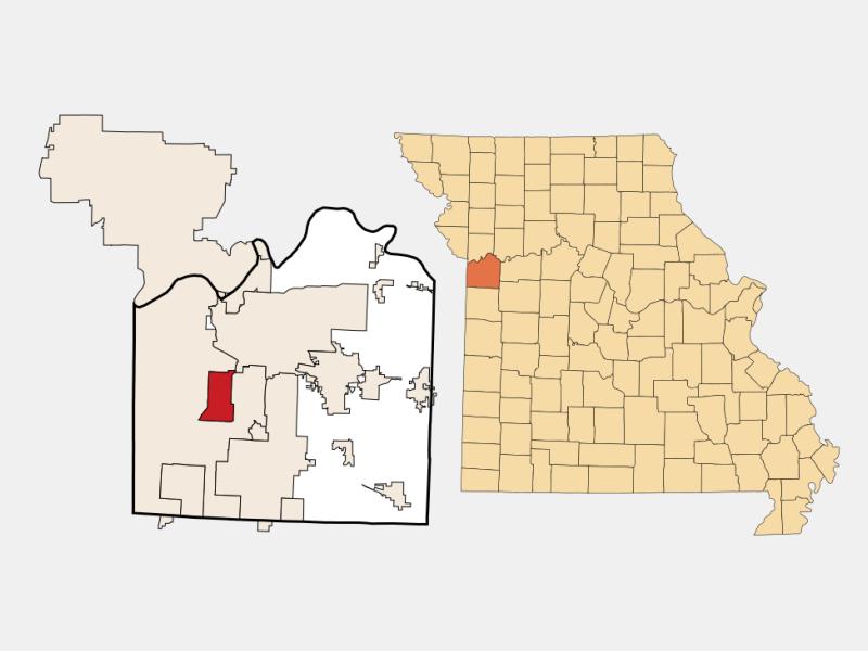 Raytown locator map