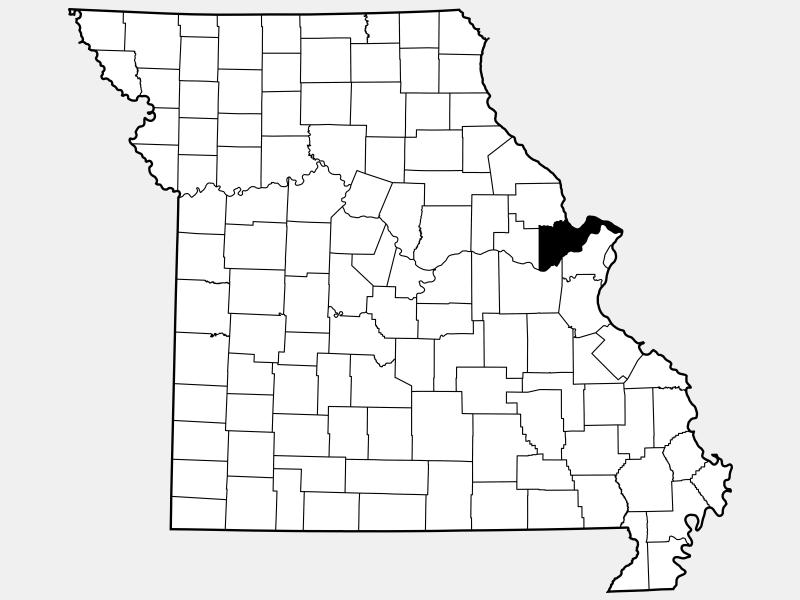 Saint Charles County, MO locator map