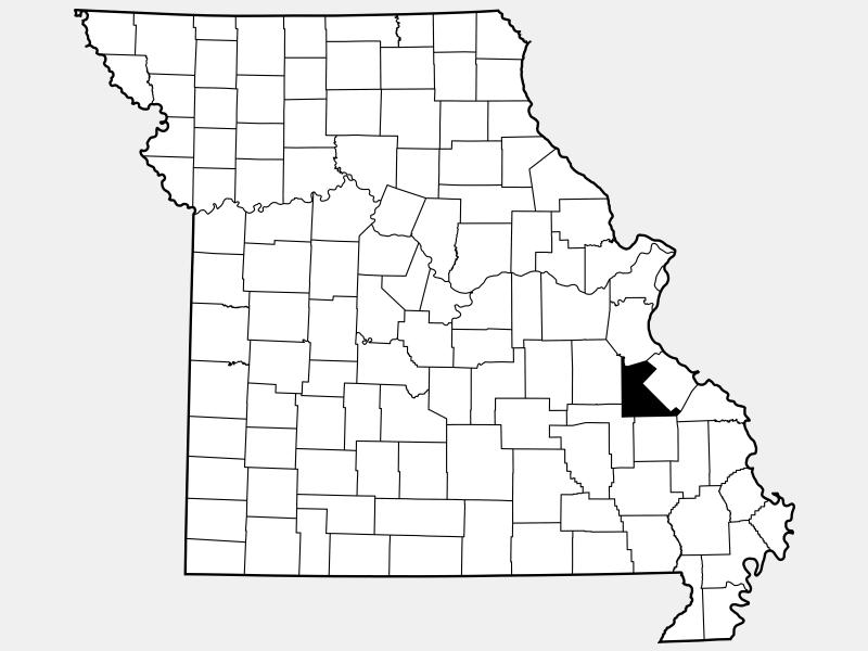 Saint Francois County location map