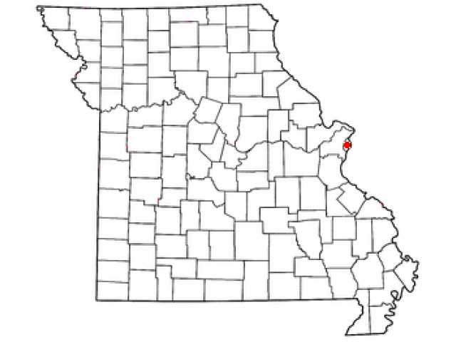 St. Louis locator map