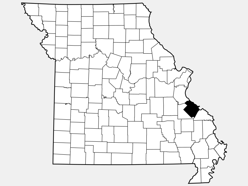 Sainte Genevieve County locator map