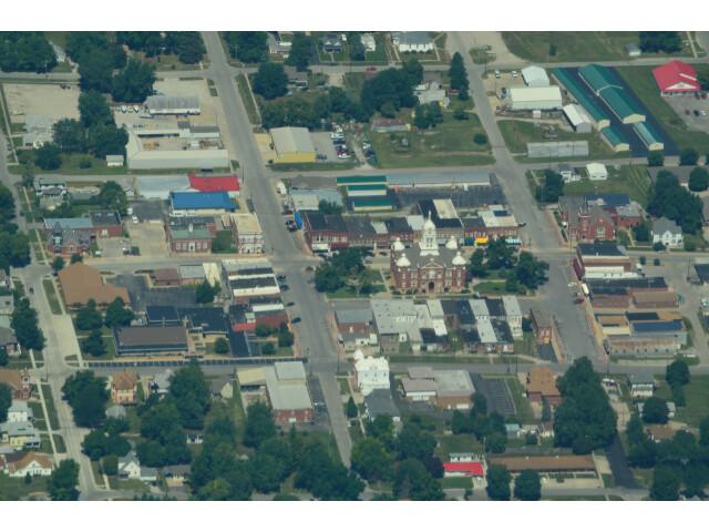 Aerial view of Savannah  Missouri 9-2-2013 image