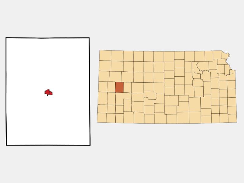 Scott City locator map