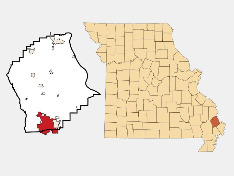 Sikeston locator map