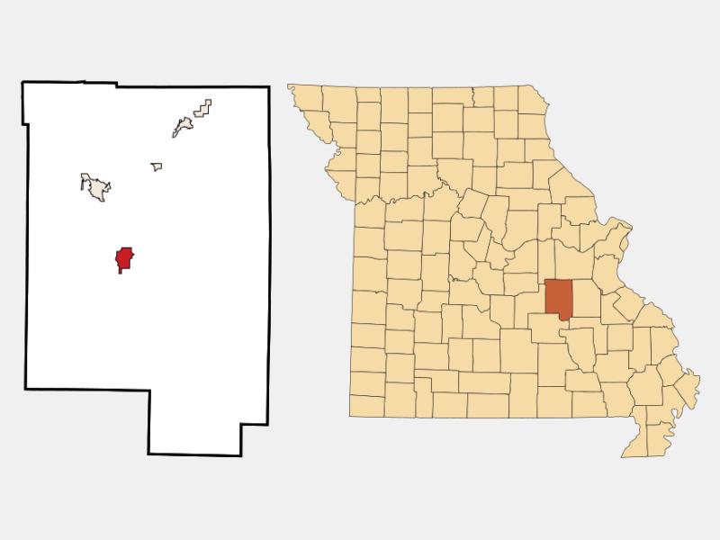 Steelville locator map