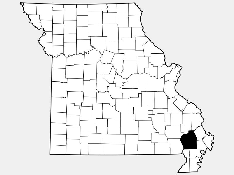 Stoddard County locator map