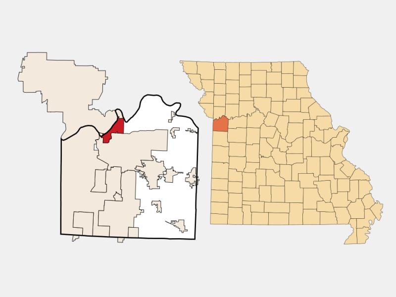 Sugar Creek locator map