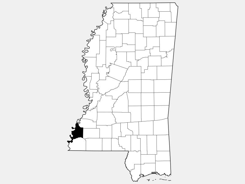 Adams County location map