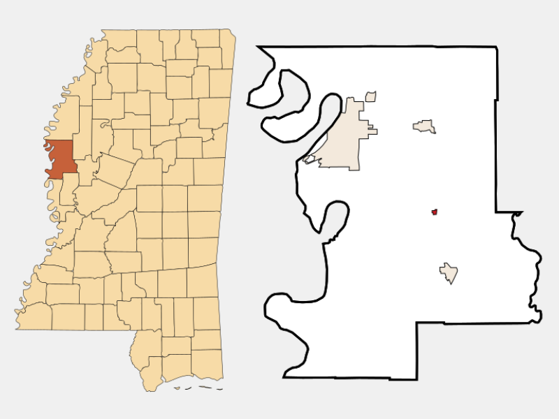 Arcola locator map
