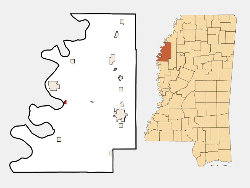 Beulah locator map