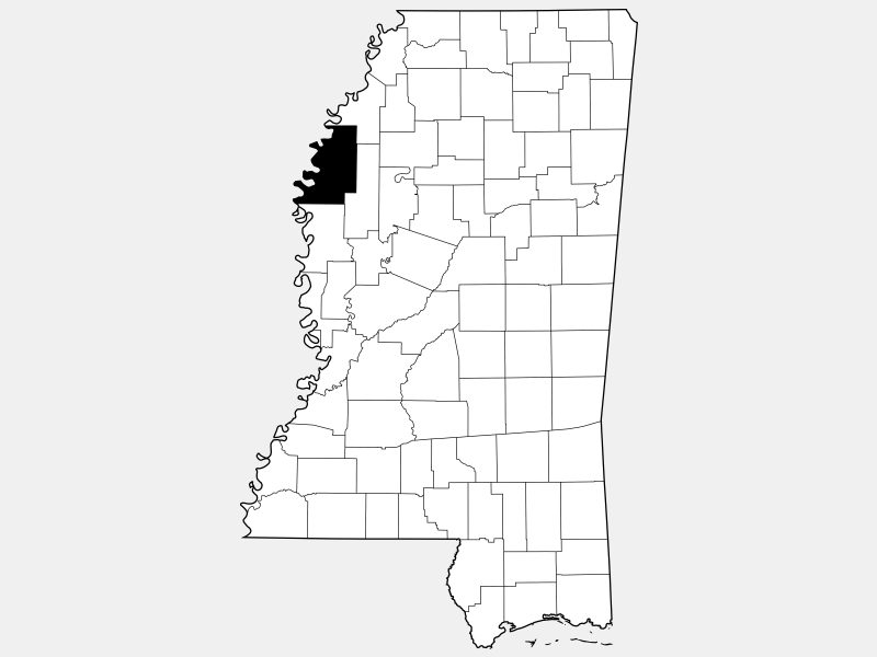 Bolivar County locator map