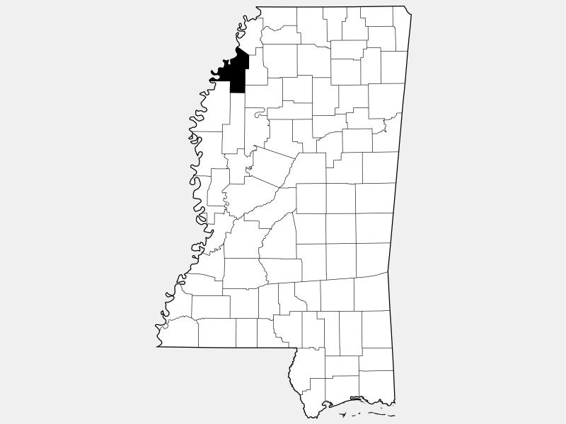 Coahoma County locator map