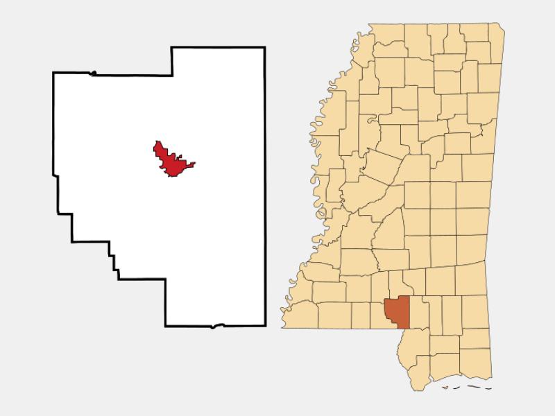 Columbia locator map