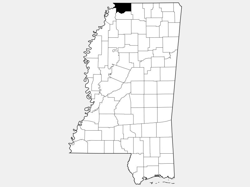 De Soto County locator map