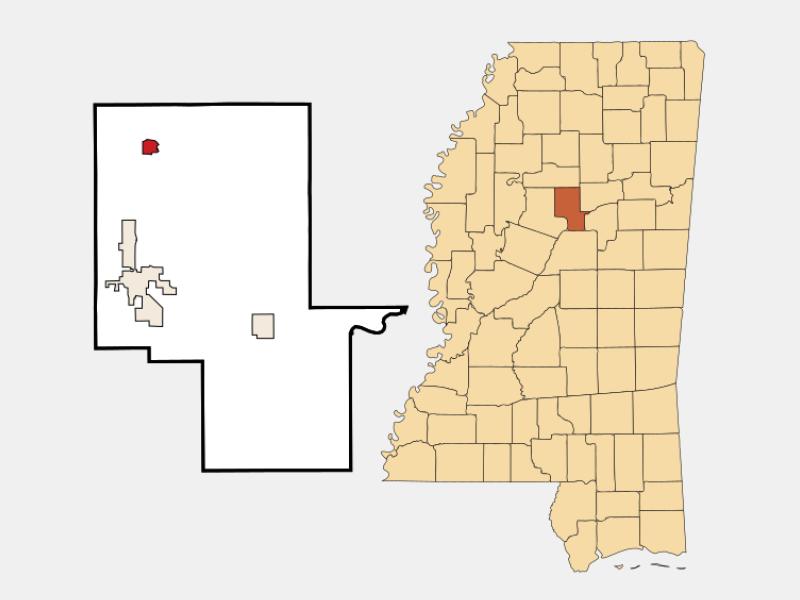 Duck Hill locator map