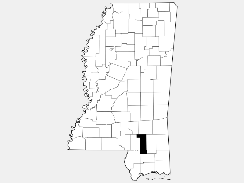 Forrest County locator map