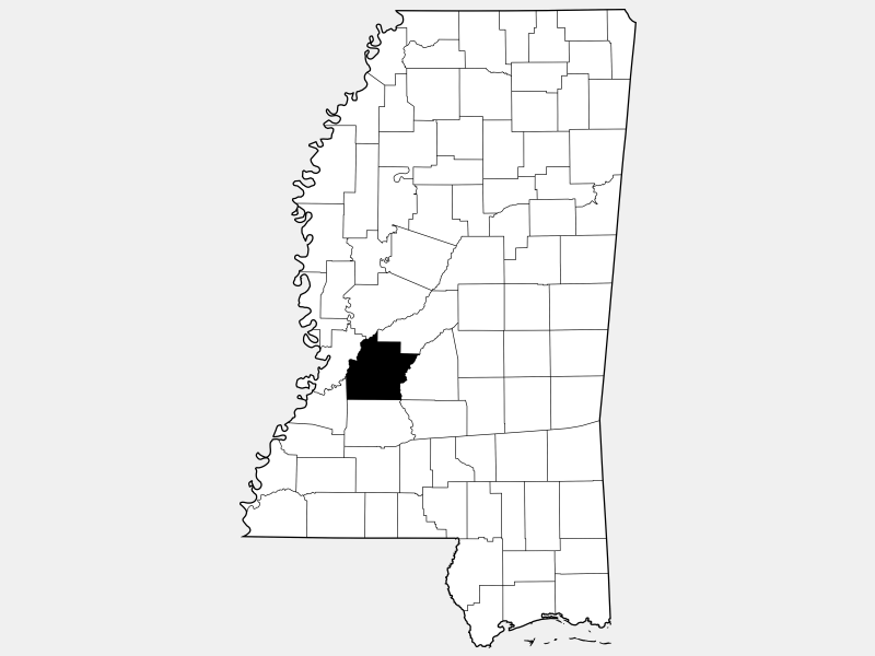 Hinds County locator map