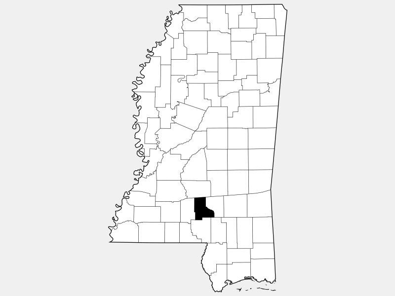 Jefferson Davis County location map