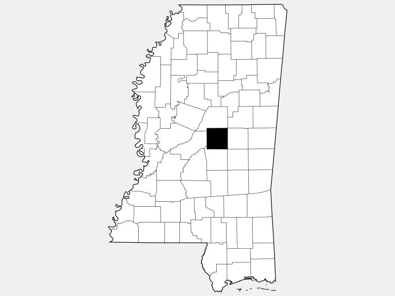 Leake County locator map