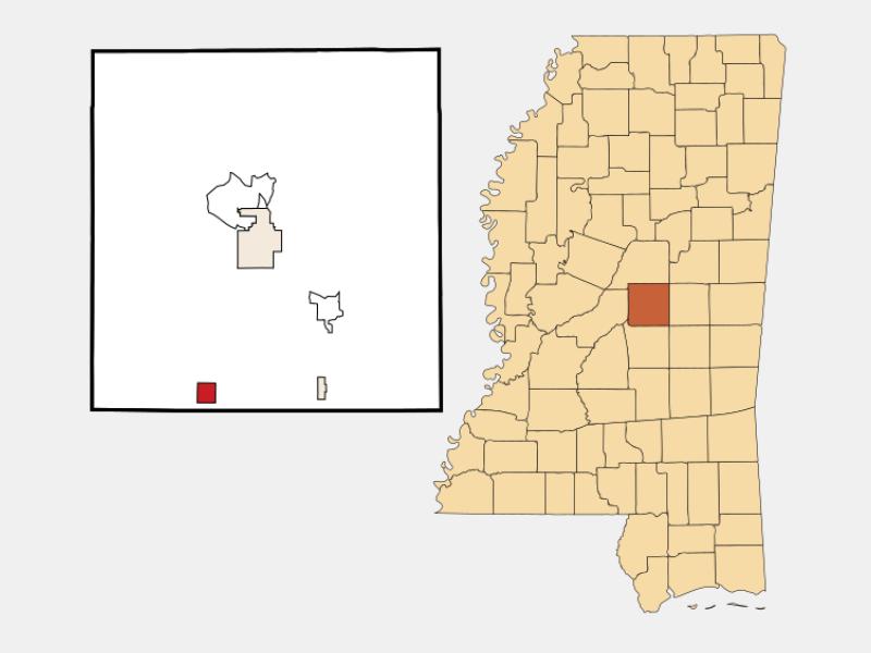 Lena location map