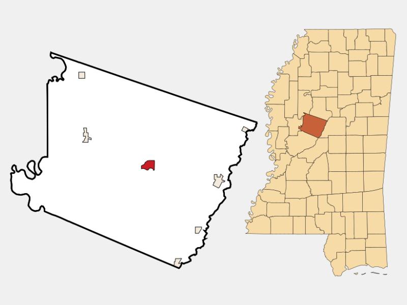 Lexington location map