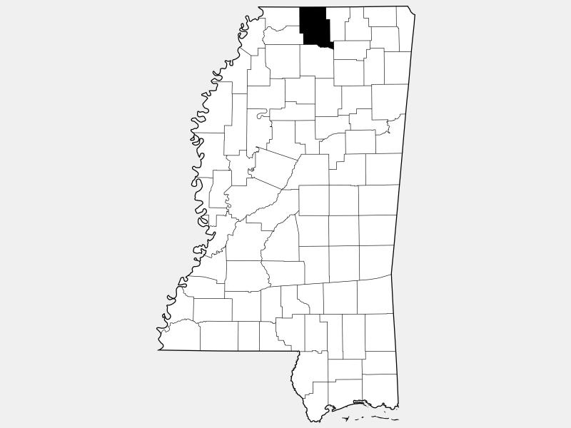 Marshall County locator map