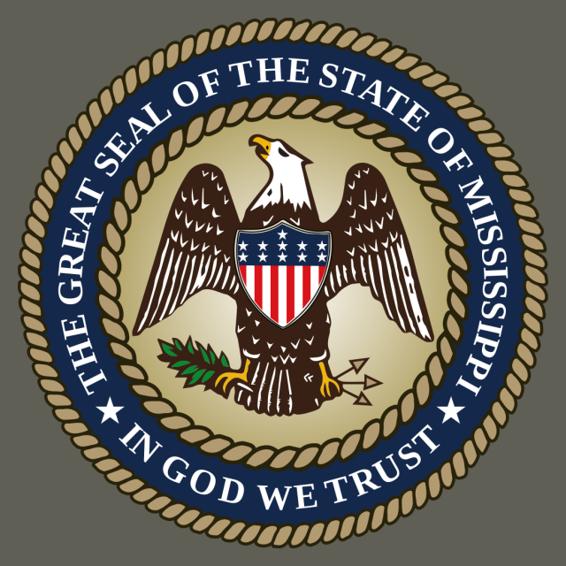Seal of Mississippi '2014%E2%80%93present' seal image