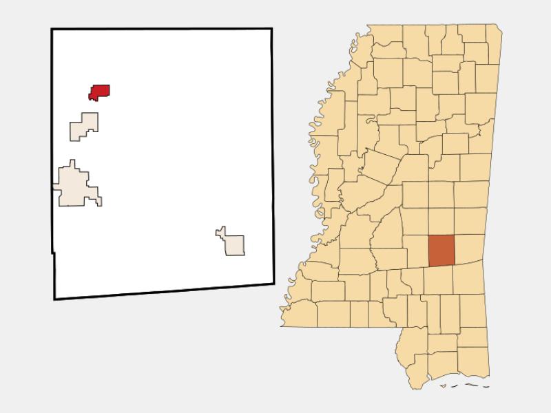Montrose locator map