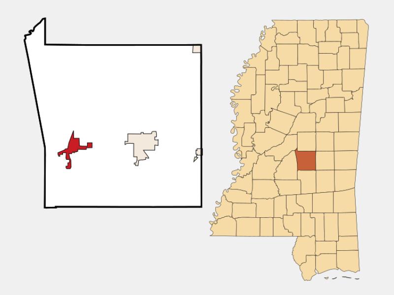 Morton location map