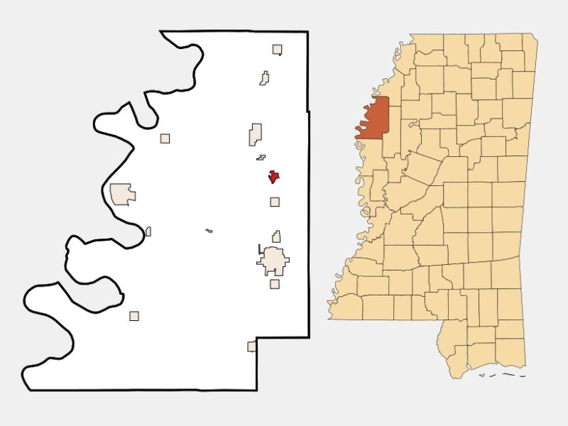 Mound Bayou locator map