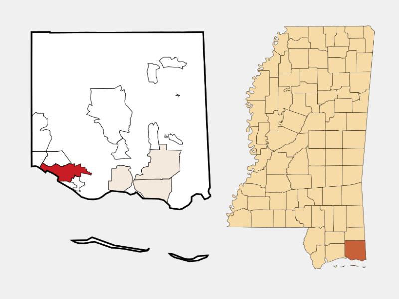 Ocean Springs locator map
