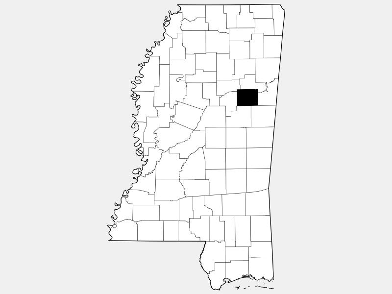 Oktibbeha County location map
