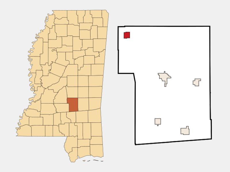 Polkville locator map
