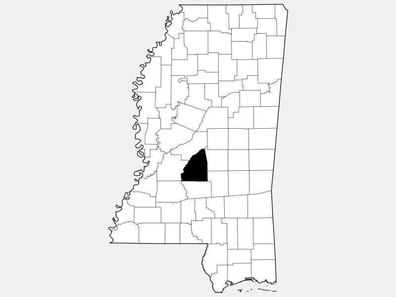 Rankin County locator map