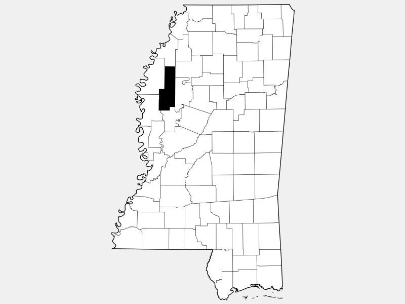 Sunflower County locator map