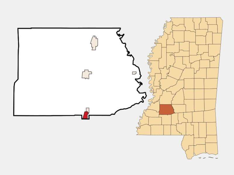 Wesson locator map
