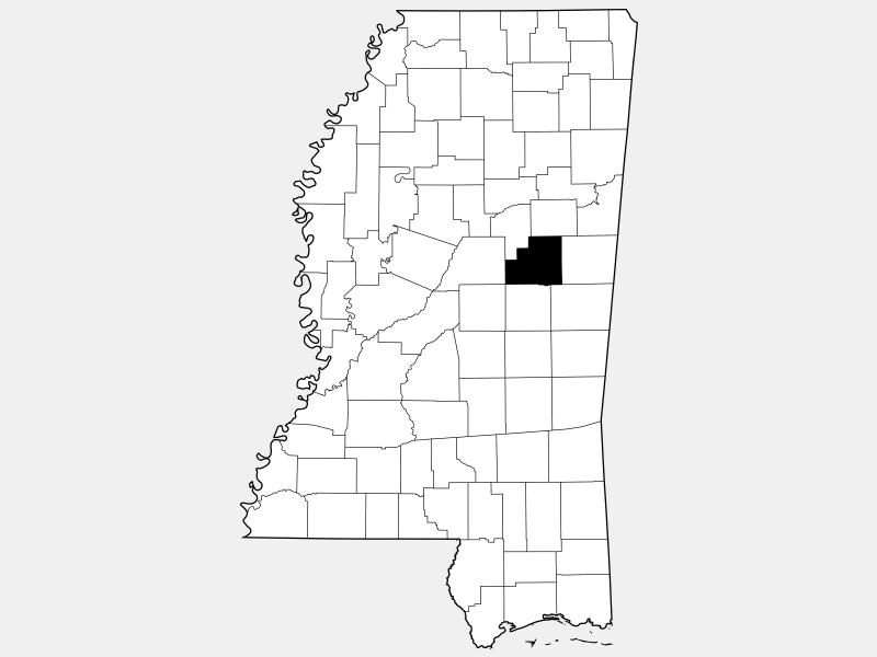 Winston County locator map