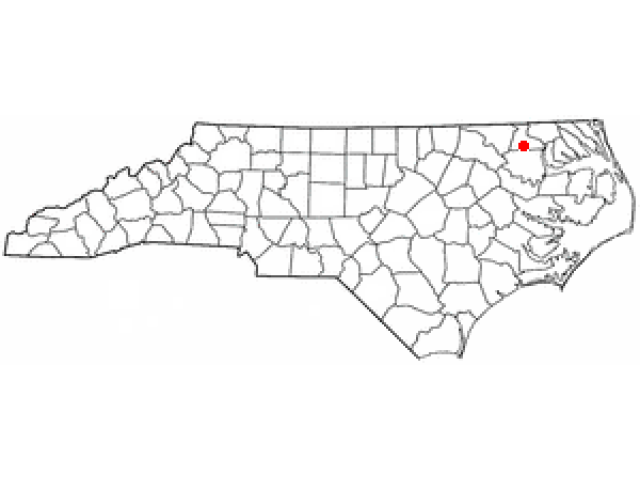 Ahoskie locator map