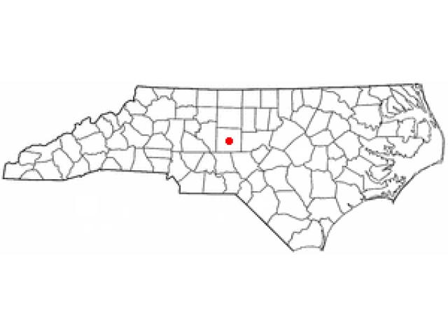 Asheboro location map