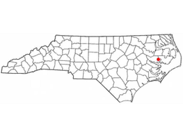 Belhaven locator map