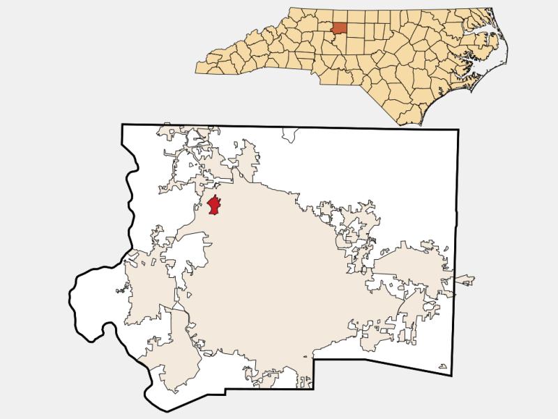 Bethania locator map
