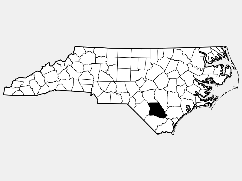 Bladen County locator map
