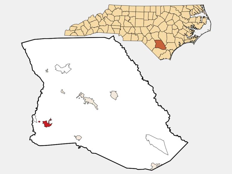 Bladenboro, NC locator map