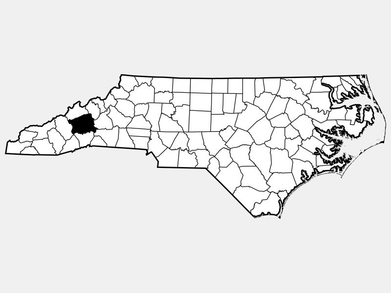Buncombe County locator map