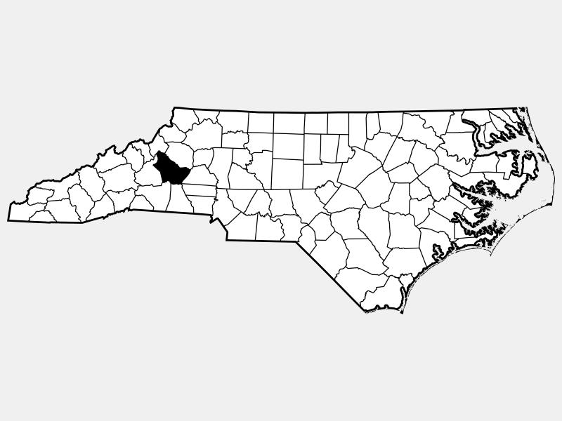Burke County locator map