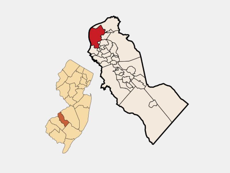Camden location map