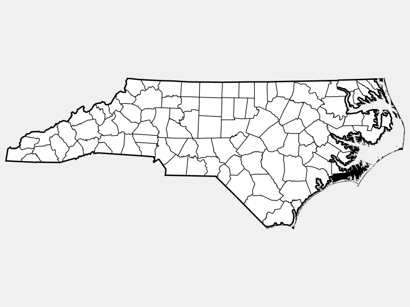 Carteret County locator map