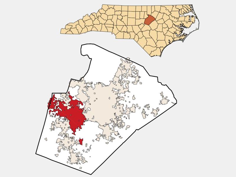 Cary locator map