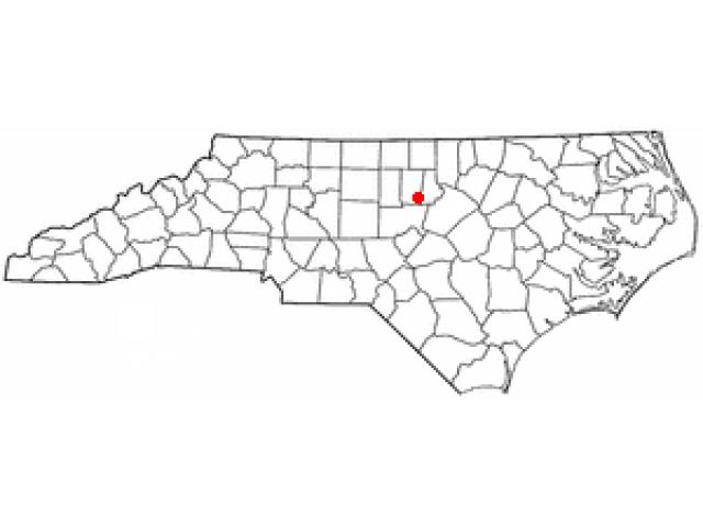 Chapel Hill locator map